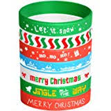 FEPITO 35 Pieces <b>Christmas Wristband Silicone</b> Wristbands <b>Rubber</b> ...