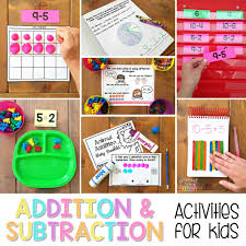 Addition And Subtraction Activities For Kids Fundamental