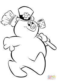 Small Picture Frosty Snowman coloring page Free Printable Coloring Pages