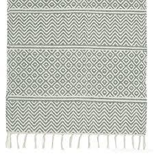 light green patterned cotton rag rug floor runner 70cm x 140cm b0758df87b