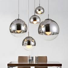 modern hanging lighting. modern pendant lamps mirror ball glass linear suspension lights for dinning room globe shade hanging lighting s