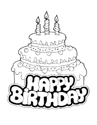 Free Printable Happy Birthday Coloring Pages At Getcoloringscom
