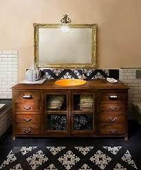 old dresser into a bathroom vanity