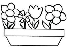 Flower Pot Coloring Page Flower Pot Coloring Pages Kids Flower