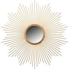 gold metal starburst wall mirror
