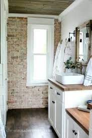 interior brick wall rustic how to install a crafts chic veneer detail