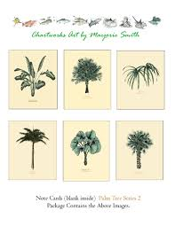 Palm Tree Chart Chart Art Mermaid Art Palm Trees Postcards Notecards