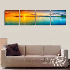 Modern Art Paintings For Living Room Aliexpresscom Buy 4panels Modern Art Painting New Design New