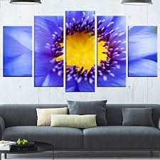designart mt13809 373 blue lotus close up watercolor flowers canvas metal wall art on amazon metal wall art flowers with amazon designart mt13809 373 blue lotus close up watercolor