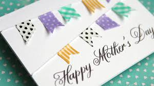 Simple Diy Mothers Day Card No Stamping Youtube