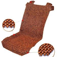 1x new natural car wooden bead cushion car summer maple wooden bead seat cushion summer mat back massage pad single seat cover car seat covers for trucks