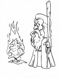 Moses Burning Bush Coloring Page - qlyview.com