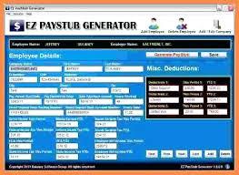 Online Pay Stub Generator Detailed Stub Ez Paystub Generator Easy Pay Maker Clairhelen Co