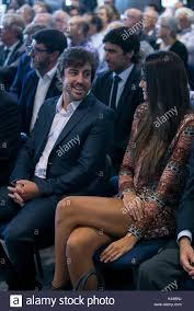 Madrid, Spagna. 04 Sep, 2017. Lo spagnolo McLaren-Honda pilota di Formula 1 Fernando  Alonso con la sua fidanzata Linda Morselli durante il Real Madrid