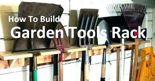 garden tool hanging rack garage storage shed tools how ideas