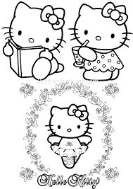 Petits Coloriages Hello Kitty Sur Petitscoloriages Com