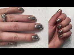 chrome mirror nails sensationail gel