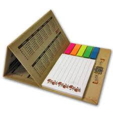 <b>Hard</b> covers and Sticky Notes for a desk calendar with the <b>works</b> ...
