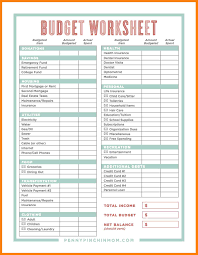 Budget Spreadsheet Free Printable Home Excel Online Wedding