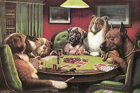 1 dogs playing is not one painting but a series