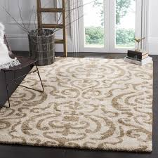 Safavieh Florida Shag Ornate Cream/ Beige Damask Area Rug (8' x 10') - Free  Shipping Today - Overstock.com - 13412985
