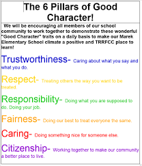 Good Work Traits Counselor Character Education Traits