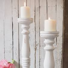 tall white wooden candlestick za homes regarding large candle holders ideas 9