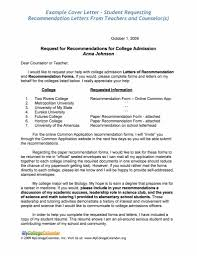 Scholarship Recommendation Letter Sample Recommendation Letter Forent Going To College Template Of