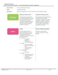 Instructional Design Document Samples Id Standards Hldd