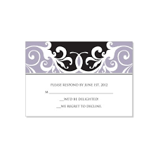 rsvp card template black gray rsvp card templates jordana midnight do it yourself