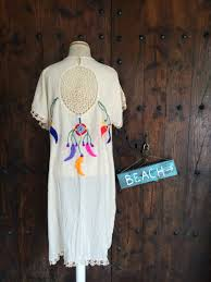 Mexican Dream Catcher Mexican dream catcher cotton kaftan with multi color by AUROBELLE 59