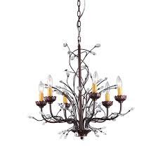 kinsley wonderland 6 light bronze indoor crystal chandelier with shade