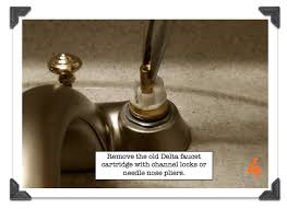 delta bathroom faucet leaks remove the old cartridge with pliers