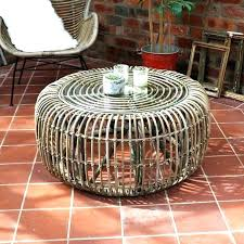outdoor coffee table cover rattan round with glass top black uk tab