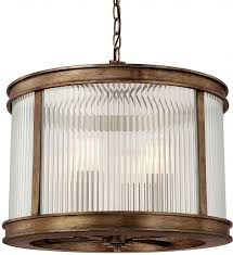 capital lighting 312042rt reid rustic drum pendant hanging light