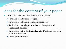 comparison contrast essay introduction to this paper include 4 ideas