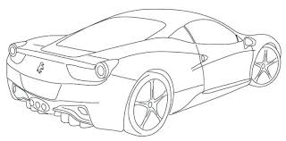 Ferrari 458 Coloring Page Only Coloring Pages