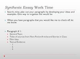 contemporary literature ppt synthesis essay work time