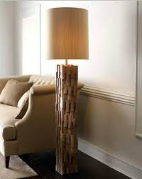 wooden floor lamps natural wood floor lamp that made of mango wood and iron wooden base wooden floor lamps