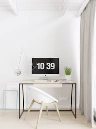 Office Room: Simple White Scandinavian Office Room - Workspace Designs