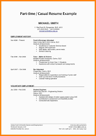 Resume Sample For A Part Time Job As A Student Inspirationa Student