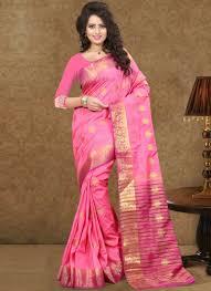 Designer Wear Sarees In Hyderabad Hot Pink Nylon Art Silk Designer Fancy Party Wear Sarees