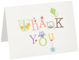 Amazon.com : C.R. Gibson Thank You Notes, Set of 10 Boxed Cards ...