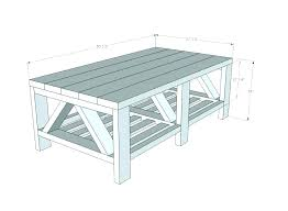average coffee table sizes end height large of a standard within prepare