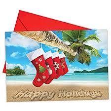 Christmas Notecard Amazon Com B6651jxsg Box Set Of 12 Season S Beachin Christmas