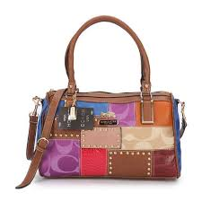 Coach Holiday Matching Stud Medium Brown Multi Luggage Bags ECA
