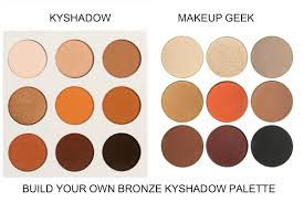 build your own kylie cosmetics kyshadow bronze palette with makeup geek dupes