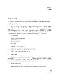 030 Letter Of Intent Template Real Estate Free Download
