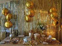 Gold Birthday Decorations Dough And Batter 50th Solid Gold Disco Party Dessert Bar