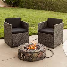 Stone Design Round Gas Fire Pit